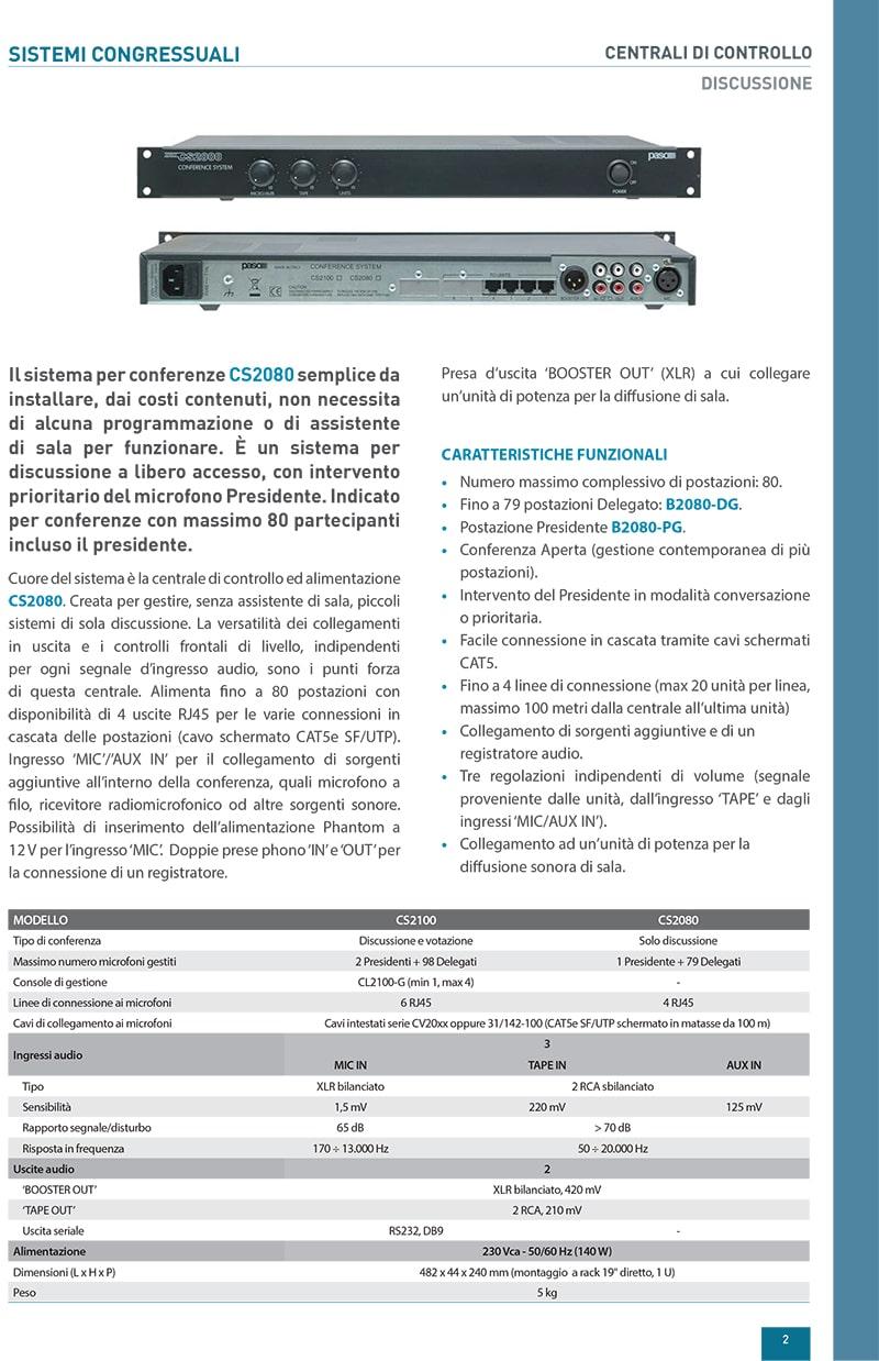 Thông tin và thông số kỹ thuật của Paso CS2080
