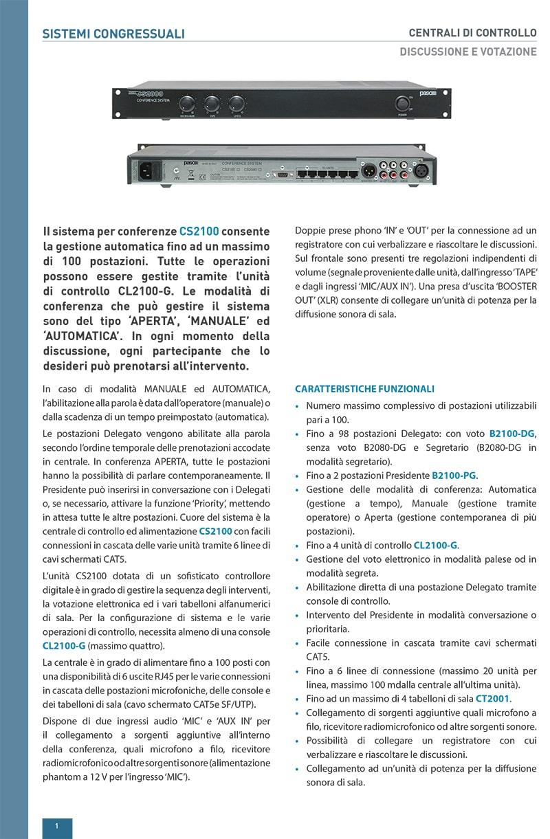 Thông tin và thông số kỹ thuật của Paso CS2100