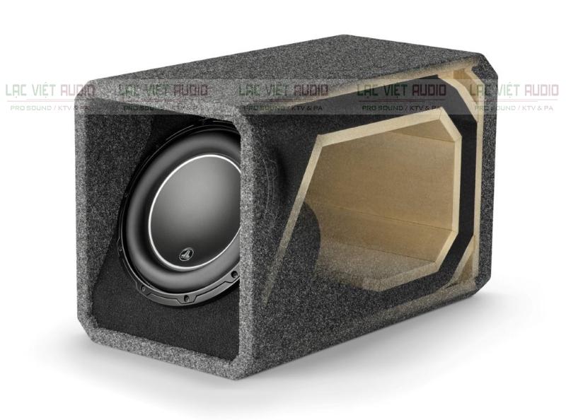 Thùng loa sub hơi với chất liệu bền chắc và thiết kế khối ôm gọn
