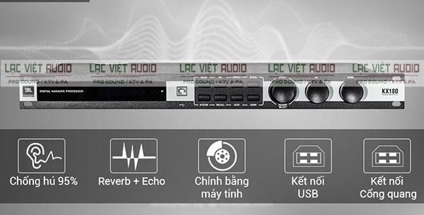 Vang số JBL cho khả năng chống hú và điều chỉnh âm thanh tuyệt vời