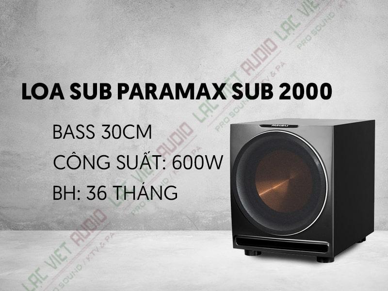 Loa Sub Paramax SUB 2000