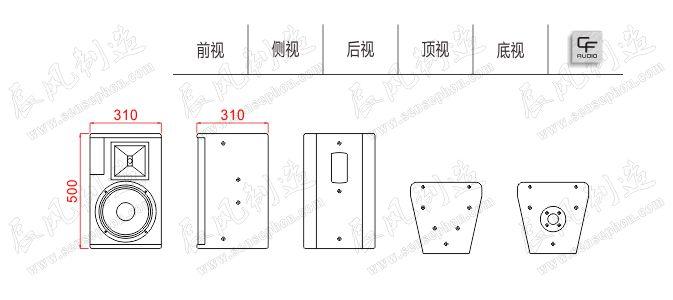 Thiết kế, cấu tạo chi tiết loa CF TQ 10