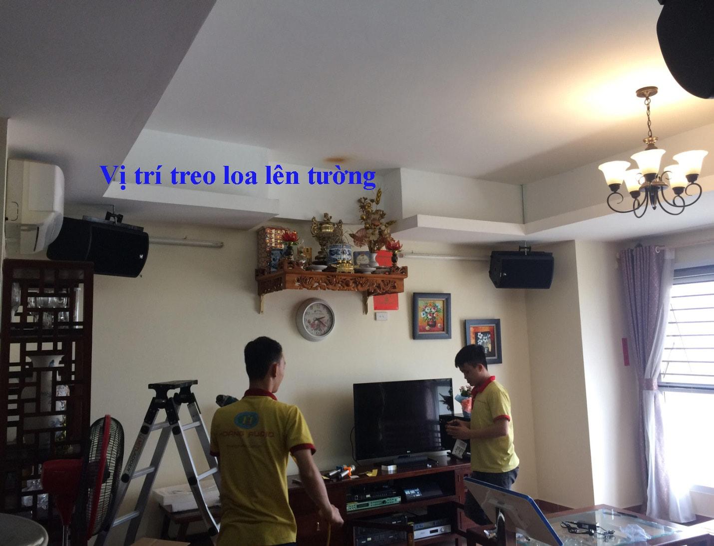 Vị trí lắp loa treo tường