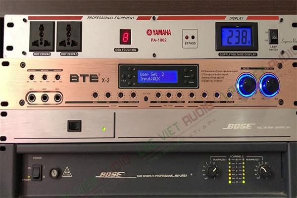 Vang số BTE X2 phục vụ dàn âm thanh chuyên nghiệp