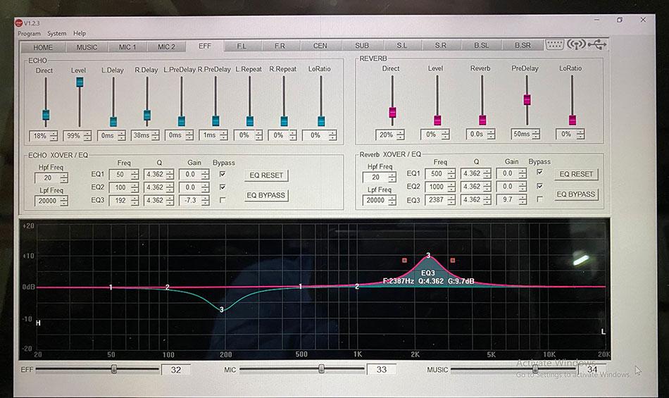 Phần mềm vang số chỉnh aap K 9900