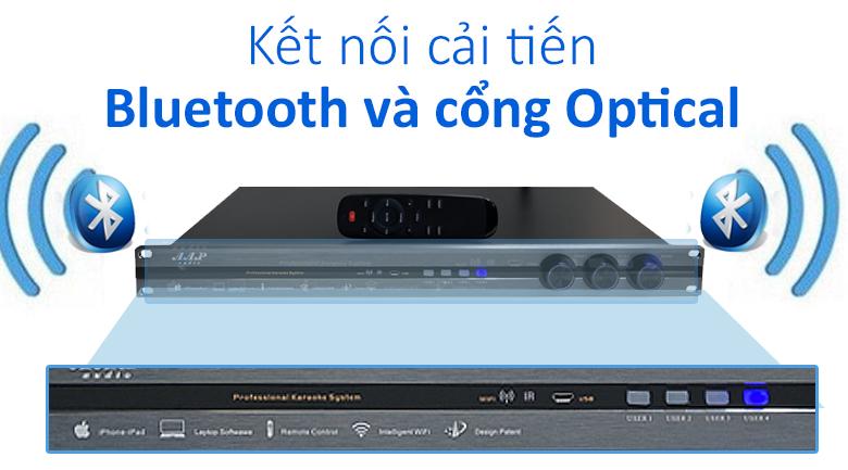 Tích hợp cả kết nối bluetooth và cổng Optical