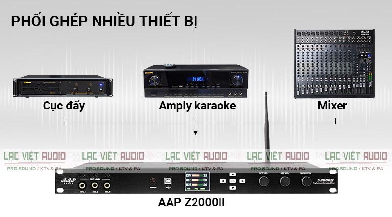Vang số AAP Z 2000 II được kết nối với nhiều thiết bị khác nhau