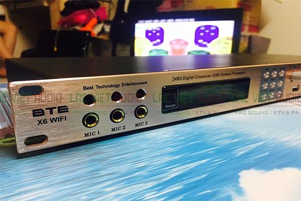 Vang số BTE X6 kết nối 3 mic