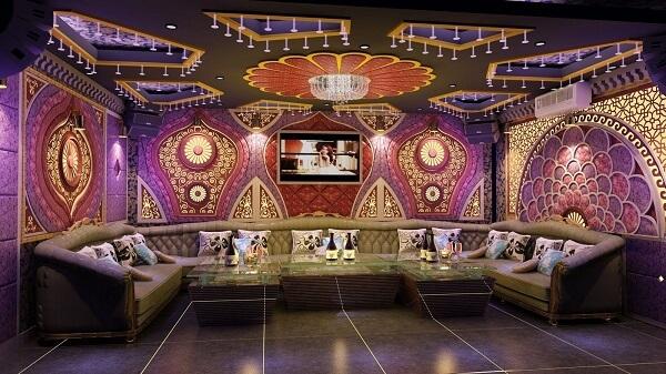 Phòng karaoke bình dân diện tích từ 20 - 25 m2, phòng cao cấp 40 - 45m2