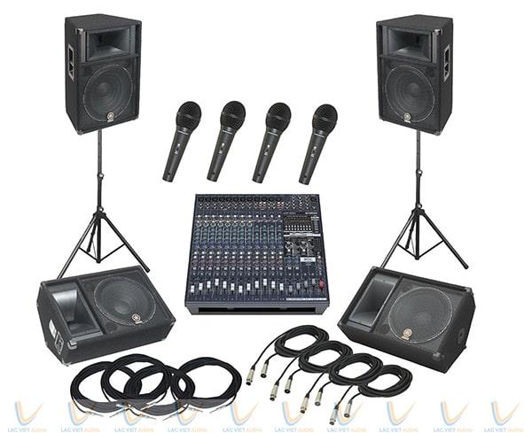 Mixer ứng dụng phổ biến trong các bộ dàn âm thanh chuyên nghiệp
