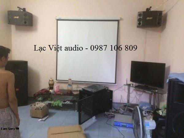 Phòng karaoke gia đình cao cấp của anh Tuấn