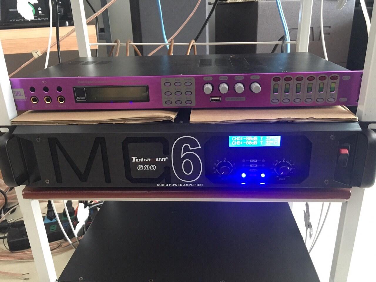 Cục đẩy MC 600 được Lạc Việt audio lắp vào hệ thống âm thanh